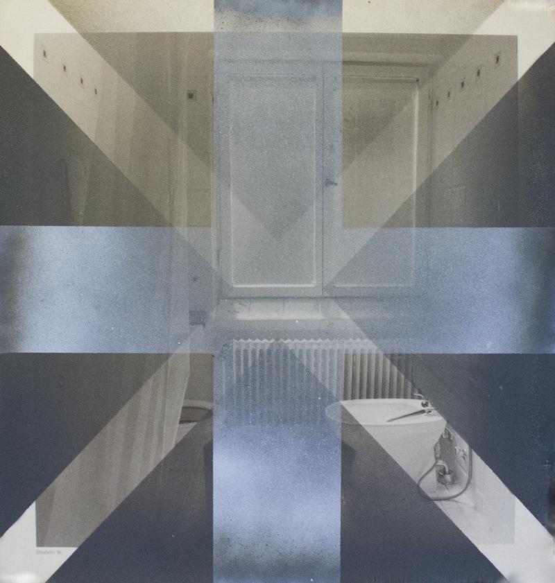 FREEZE FLAG – 2014 – ACRYLIC ON LAMINATE – 17 X 18